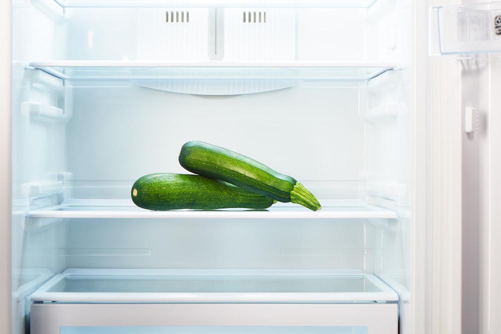 calabacin en frigorifico